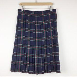 Vintage Highland Queen pure wool kilt midi skirt